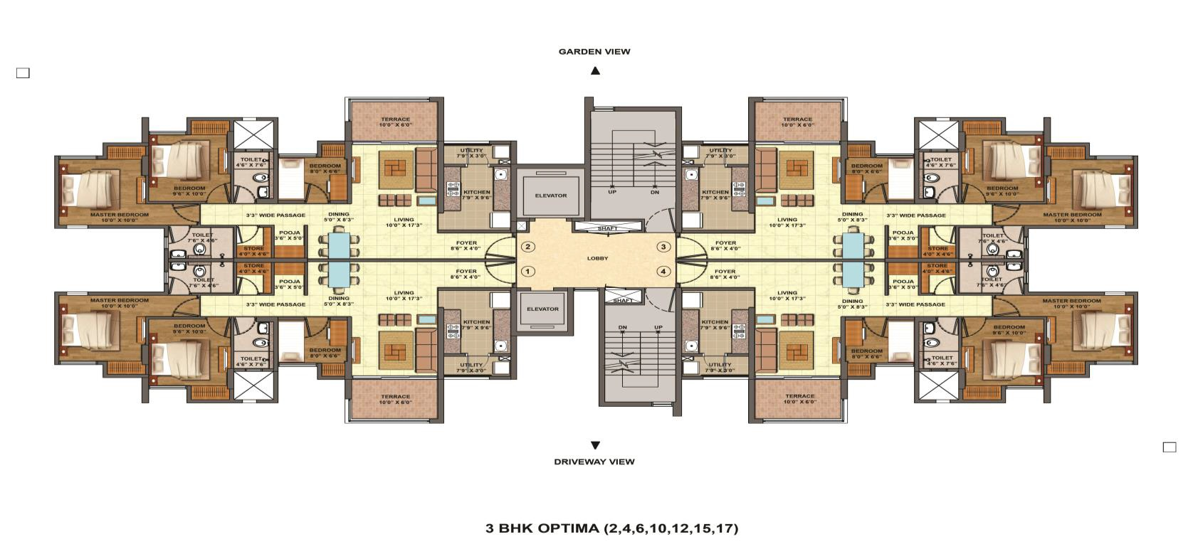 Floor plans lodha palava city codename riverside for Floor plane
